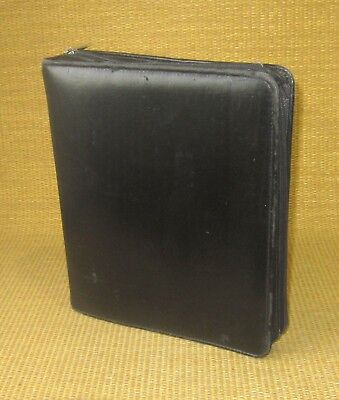 Classic 2 Rings Black Sim. Leather Franklin Coveyquest Zip Plannerbinder
