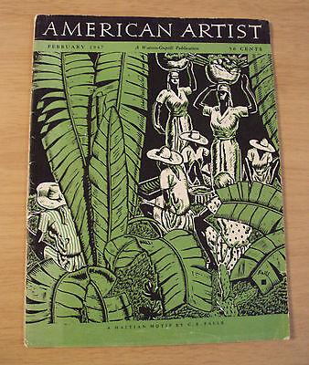 "VTG 1947 ""AMERICAN ARTIST"" Magazine~Girls~Ephemera~HATIAN Motif COVER~"