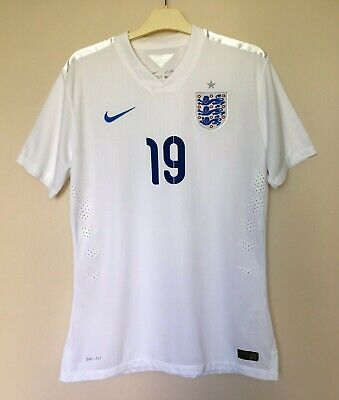 ENGLAND NATIONAL  2014/2016 HOME SHIRT JERSEY FOOTBALL BNWT MATCH ISSUE U-20 #19 image