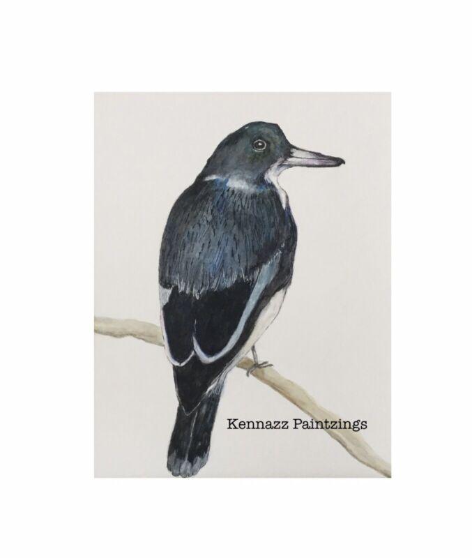 Original+Painting+Magpie+Bird+1+Of+By+Kenna+9%E2%80%9D+X+12%E2%80%9D+Unframed+Not+A+Print