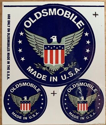 Vintage Original 1970s Oldsmobile Made in the USA Sticker Set Decal Cutlass Olds