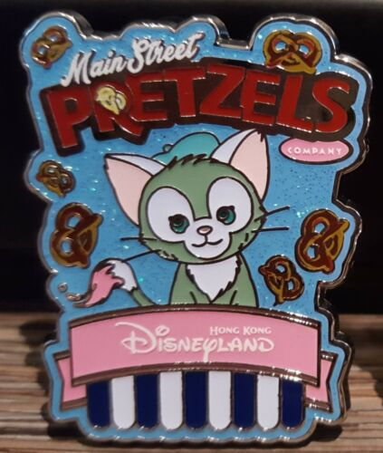 2018 Duffy Gelatoni Cat Main Street Popcorn & Pretzel Pin Hong Kong Disneyland