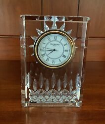 LISMORE CRYSTAL 4-inch CLOCK by Waterford