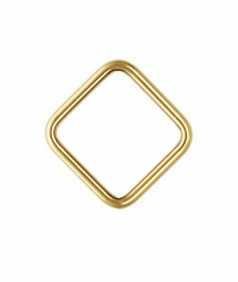 14k Gold Filled 20ga 8mm Closed Square Jump Rings 6pcs  #6523-8 14k Gold Filled Jump Rings