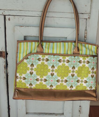 Gloveit Glove It Shoulder Bag Tote Carry All Fabric NICE Tennis Design NEW