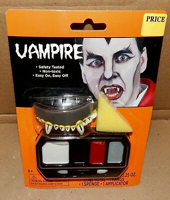 Halloween Vampire Makeup Kit Grease Fangs Sponge 5+ 171L