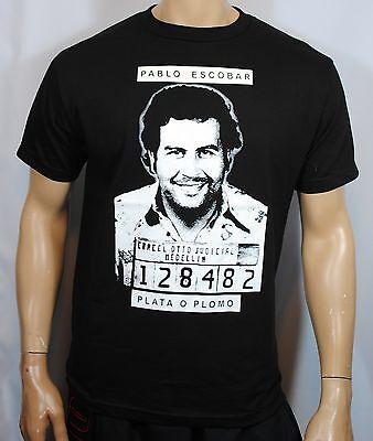 Pablo Escobar Narcos T Shirt Plata O Plomo Tee Mens