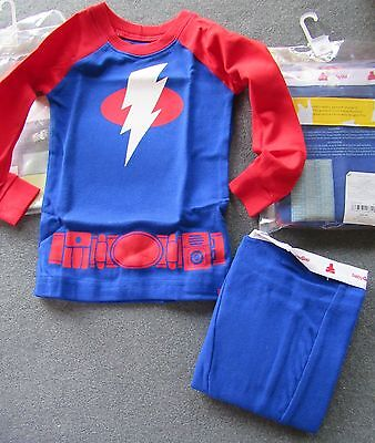 NWT Baby Gap Outlet Blue Red LIGHTNING BOLT Long Sleeve Pajamas 6-12 OR 18-24 mo Baby Gap Outlet