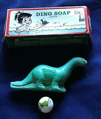 "Vintage ""Dino"" Soap, Sinclair Gas, Original Box and Sinclair Marble"