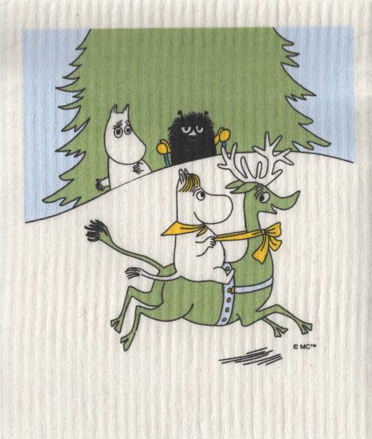 Moomin Dish Cloth 17 x 20 cm Snorkmaiden Reindeer