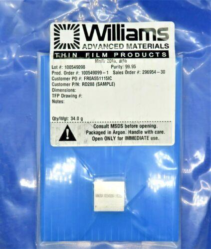 William Advanced Materials Mn/Ir 20%, at% Sputtering Target 100549099-1 RD88