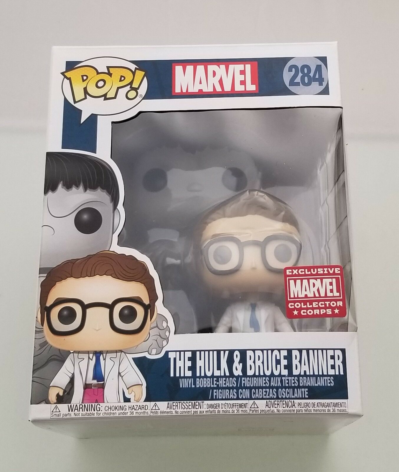 Funko Pop! The Hulk and Bruce Banner 284 Marvel Collector CO