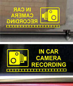 2 REVERSE Warning Stickers Signs CCTV Video Camera Recording Car Vehicle Safety