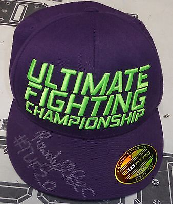 Rowdy Bec Rawlings Signed Personally Worn Used Tuf 20 Ufc Hat Psa Dna Coa Autod