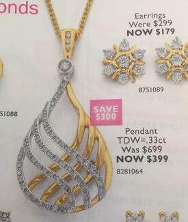 Brand New 9ct Gold and Diamond Pendant Tinana Fraser Coast Preview