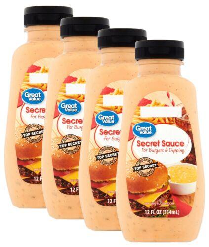 Great Value Secret Sauce For Burgers & Dipping Bottles Big Mac - 4 Pack (48oz)