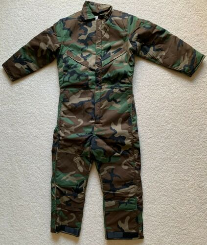 Insulated Coverall US Military Woodland Camo Size Medium BRAND NEW MADE IN USA