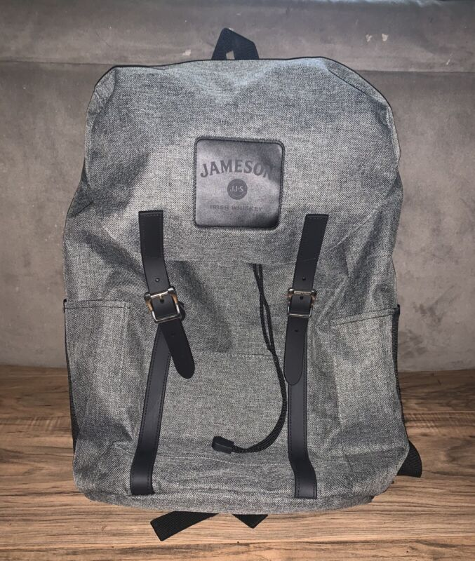 Official Jameson Irish Whiskey Backpack! Magnetic Buckle And Drawstring Closure