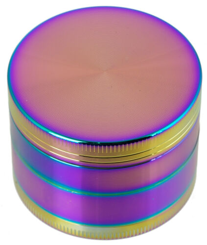 "2"" 4 Layer Metal Tobacco Crusher Hand Muller Smoke Herbal Grinder Rainbow Color"