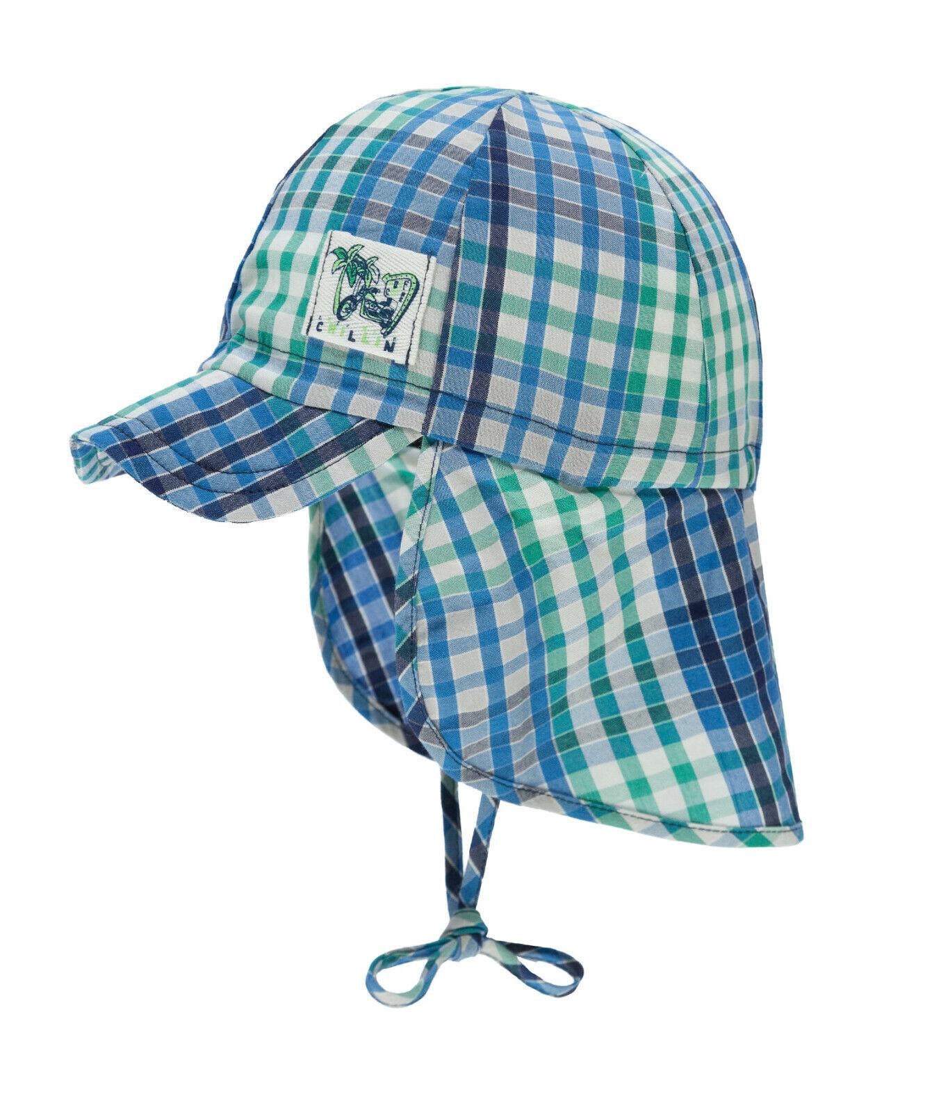 DÖLL® Jungen Sonnenhut Hut Schirm Nackenschutz Mütze Karo 47-55 Sommer 2019 NEU!
