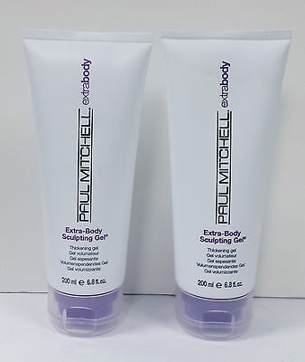 (Paul Mitchell Extra Body Sculpting Gel 6.8 oz 200 ml 2 PACK)