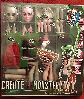 Mattel Monster High~Create A Monster~Gargoyle&Vampire~Starter Pack~Boy Doll - Boy Vampire
