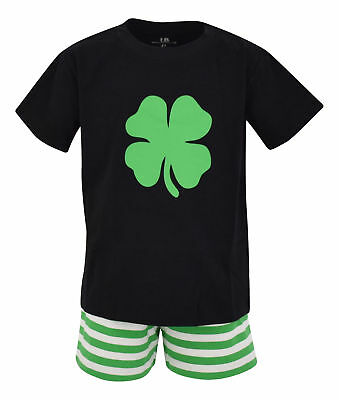 Boys 2 Piece ST Patricks Day Clover Outfit 2t 3t 4t 5 6 7 8 Toddler Kids Clothes - St Patricks Day Clothes