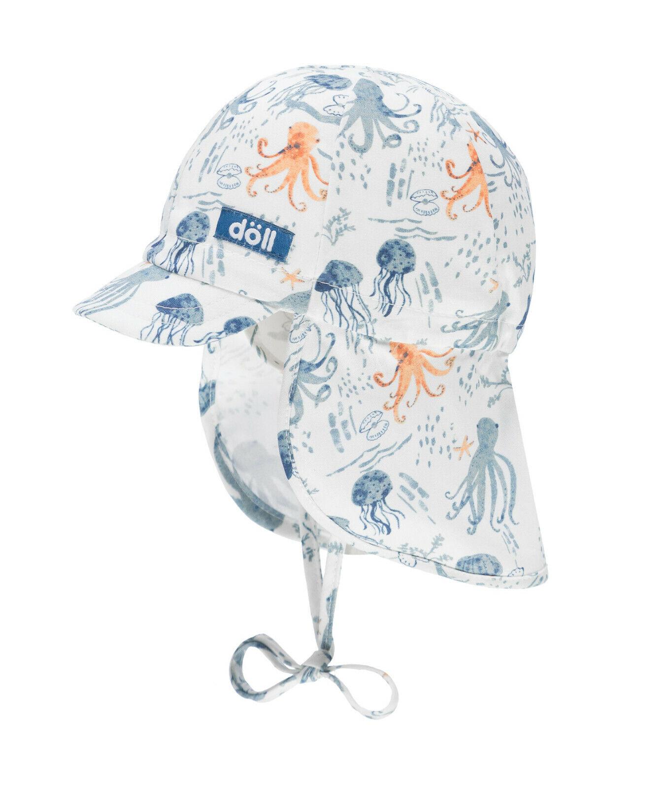 DÖLL® Baby Jungen Sonnenhut Hut Nackenschutz mit Schirm Mütze 39-45 S 2019 NEU!