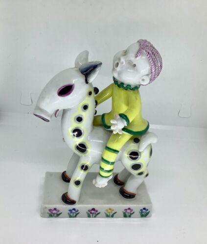 Walter Bosse Decorated Porcelain Horseman Metzler & Ortloff 1930