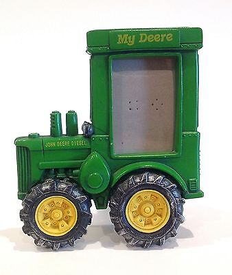 """John Deere Tractor Photo Frame ~ Holds 2"""" x 3"""" Photo Poly Resin"""