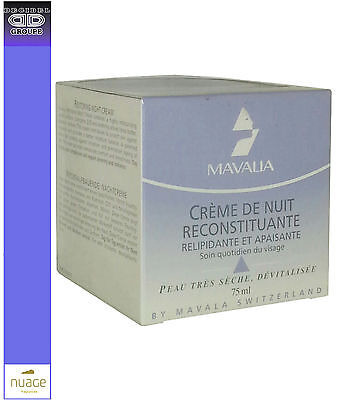 MAVALA CREME DE NUIT RECONSITUANTE Relipidante et Apaisante 75 ml