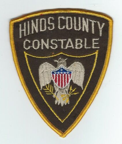 VINTAGE HINDS COUNTY, MISSISSIPPI CONSTABLE (EMBROIDERED ON WOOL/FELT) patch