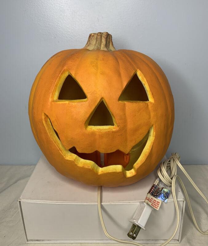 Vintage Trendmasters Jack O Lantern Halloween Foam Mold Light Up Pumpkin 1993