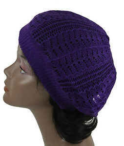 Womens Fashion Crochet Beanie Hat Knit Beret Skull Cap Tam 14 Colors Brand New
