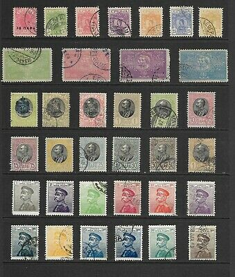 Lot  362-2021:  35 Stamps of Serbia