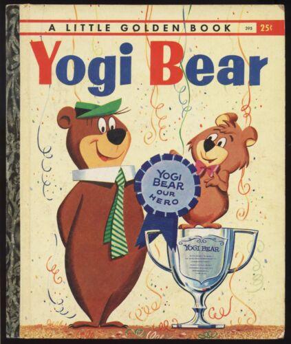 "1959 ""YOGI BEAR"" LITTLE GOLDEN BOOK ""C"" 3RD PRINTING HANNA-BARBERA TV"