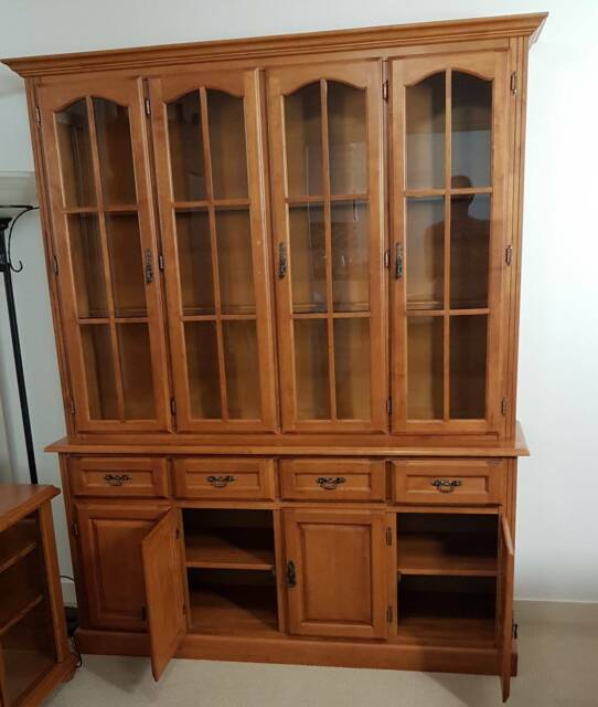 wooden kitchen and living room furniture set of 10 pieces