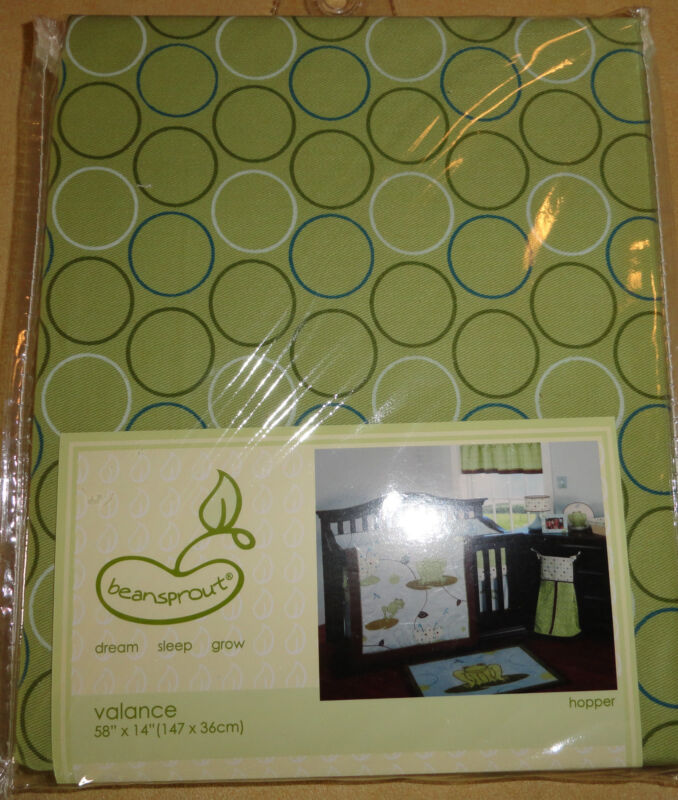 BEANSPROUT HOPPER WINDOW VALANCE NEW! GREEN