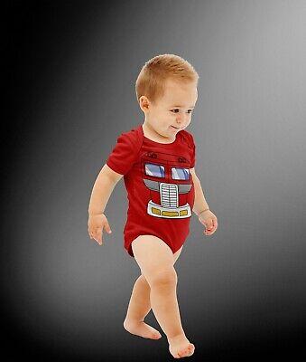 Baby Robot Leader Cartoon Hero Halloween Costume Cosplay Bodysuit ](Infant Robot Halloween Costume)