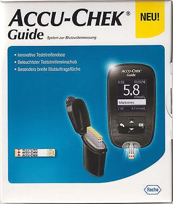 Accu-Chek Guide Blutzucker-Messgerät mmol/l plus 10-210 Teststreifen - neu+OVP