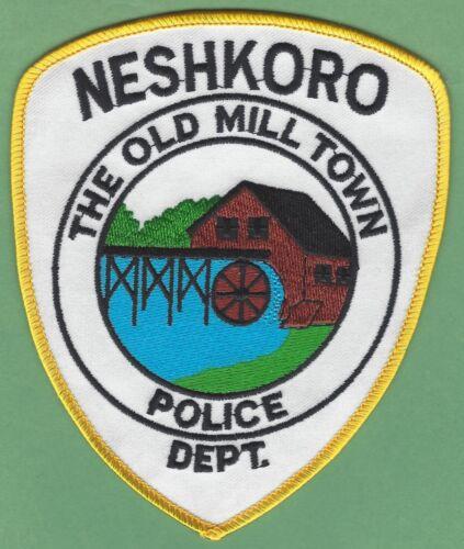 NESHKORO WISCONSIN POLICE SHOULDER PATCH