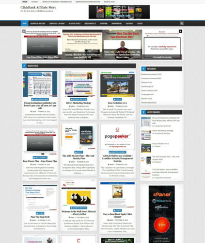 ClickBank Affiliate Store Website on AutoPilot + Free Hosting