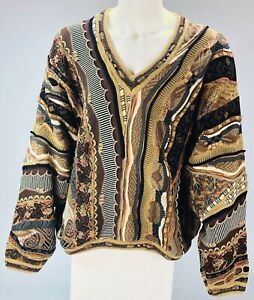 Vintage Tundra sweater 90's hip hop Coogi style Biggie Smalls XL