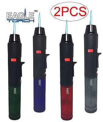 2 Pack Eagle Torch Pen Gun Cigar Lighter Butane Refillable S