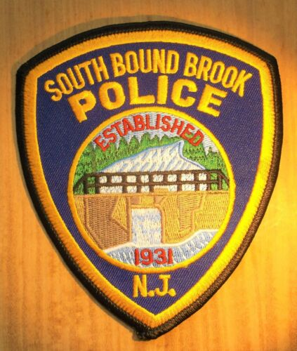 GEMSCO NOS Vintage Collectible Patch POLICE SOUTH BOUND BROOK NJ - Original 30+