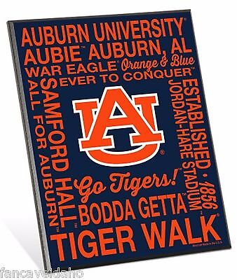 University of Auburn Tigers Phrases Premium 8