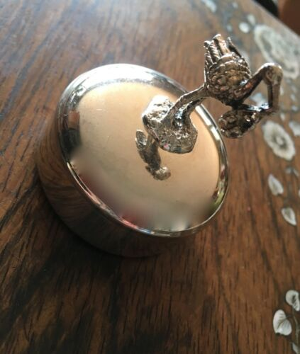 SWEET SILVER STORK TOOTH FAIRY BABY TEETH BOX FOR NURSERY MADE IN PORTUGAL
