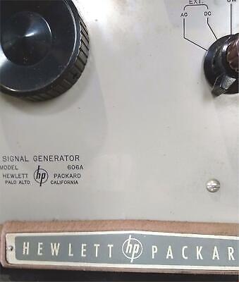 Vintage Hewlett Packard Signal Generator Model 606a Powers On Free Shipping