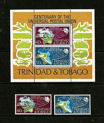 SC20 TRINIDAD & TOBAGO 1974 Centenary of the UPU miniature sheet + set  MNH
