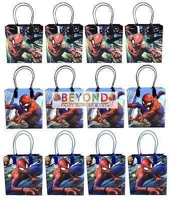 Spiderman Goody Bags, Marvel Party Favor Goodie Bags Gift Bags Birthday Party